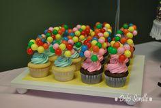 Balloon cupcakes! #cupcakes #balloons