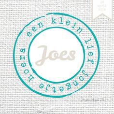Geboortekaartje: Stoer en trendy turquoise stempel - voorkant