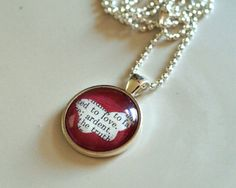 Butterfly Silhouette Vintage Dictionary Pendant by ChirpHandmade, $28.00