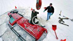 Вот это рыбалка! Утопили машину под лёд Вот прикол смотреть всем #1