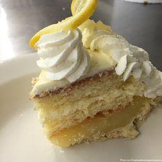When life hands you lemons, you make an irresistible Luscious Lemon Cake Pie of course!   #pie #mariecallenders #dessert #cake