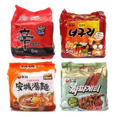 Korean Instant NONGSHIM Popular Noodle Ramen Ramyeon 20pack Collection Package #NONGSHIM