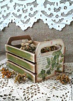 Купить Ящик Прованские травы для специй,овощей,лука,чеснока в стиле кантри - ящик для хранения