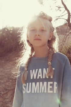 Kids fashion - Zadig & Voltaire - Spring Summer 2015 Collection Tween Fashion, Little Girl Fashion, Spring Hairstyles, Cool Hairstyles, Braid Hairstyles, Amusement Enfants, Inspiration For Kids, Stylish Kids, Kid Styles