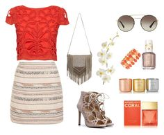 """Coral Chic"" by fancy-chic ❤ liked on Polyvore featuring Alice + Olivia, New Look, MANGO, Liz Claiborne, Michael Kors, Essie, Prada, Pier 1 Imports and Tom Dixon"