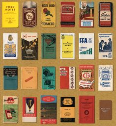 Aaron Draplin shares some of his hundreds of vintage memo books and speaks (in video at the link) about their influence on the popular Field Notes.