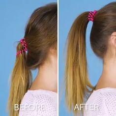 Easy breezy hair hacks - The best fashion types in the world fashionlife Cute Hairstyles, Braided Hairstyles, Curly Hair Styles, Natural Hair Styles, Tips Belleza, Hair Videos, Hair Hacks, Hairstyle Hacks, Hair Designs