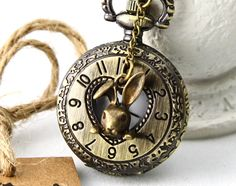 Rabbit in Your Pocket Watch Necklace!