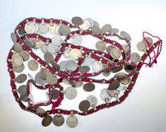 11 cm 1 Paar großer Hippie Boho Tribalaufnäher Tribal Kuchi Perlenmedaillons