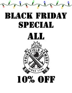 Springfield 10% OFF! 2 Hours Left of Black Friday! Get Them Now!