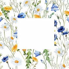 Small fresh flowers watercolor poster background