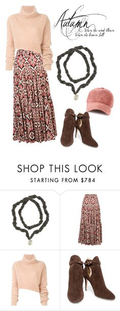 """""""Burrr Baby, it's cold outside! Bundle up in sweaters and silk and add a hand crocheted silk and pearl necklace to finish your Fall look!"""" by stacie-vii ❤ liked on Polyvore featuring La DoubleJ, Ann Demeulemeester, Jimmy Choo and rag & bone"""