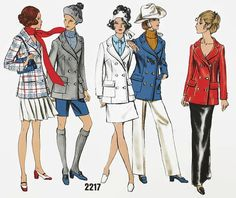 Vintage 1960s Sewing Pattern - Vogue Basic Design - Vogue 2217 - Classic Jacket - Size 12 Bust 34 Hip 36 - Double Breasted Jacket - UNCUT by EightMileVintageSews on Etsy