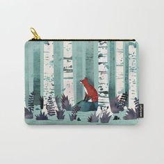Fox!! :: The Birches Carry-All Pouch