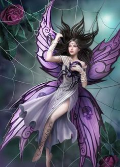 Anne Stokes Silk Lure cross stitch pattern Email Only