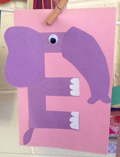 Preschool letter e craft alphabet crafts for kids Letter E Craft, Preschool Letter Crafts, Alphabet Crafts, Preschool Lesson Plans, Letter Activities, Preschool Activities, Alphabet Wall, Zoo Phonics, Letter Of The Week