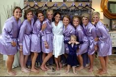 Great Lilac Robes For The Girls On The Big Day! www.weddingprepgals.com