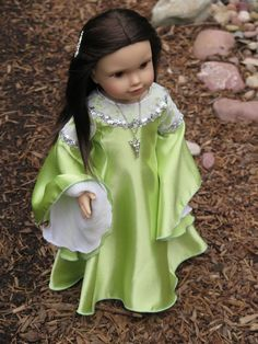 American Girl Arwen - LOTR Coronation Gown & Evenstar Necklace - AG Doll Medieval Dress - Lord of the Rings Doll Dress - Memorial Day Sale