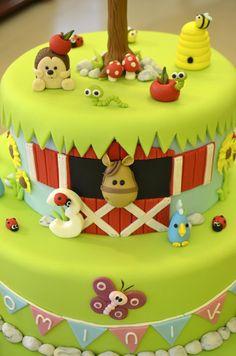 Farm Birthday Cake Idea / Barnyard Birthday Cake Idea