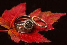 #wedding photography | wedding #ring shot on a fall leaf | fall theme