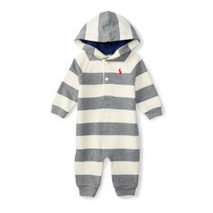 Striped Cotton Terry Coverall