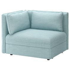 IKEA VALLENTUNA Sofa-bed module with backrests Hillared light blue All modules in the VALLENTUNA series can be used freestanding or together to create a sofa combination in any size that suits you perfectly. Sleeper Chair, Sleeper Sectional, Blue Sectional, Recliner Chairs, Swivel Chair, Ikea Vallentuna, Ikea Bank, Armchair Bed, Home Decor