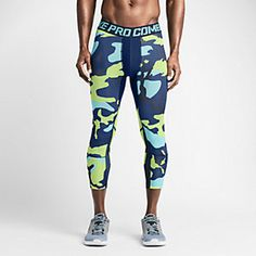 Nike Pro Combat Hypercool Compression Woodland 3/4 Men's Tights. Nike Store