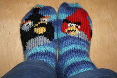 Sukat (40-41) Angry Birds, Socks, Sock, Stockings, Ankle Socks, Hosiery