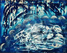 """""""Deep Blue Sea"""" Unikat!!! - Filling Art Größe: 100 x 80 cm  Bei Interesse bitte eine E-Mail an folgende Adresse schicken: madherart@gmx.de"""