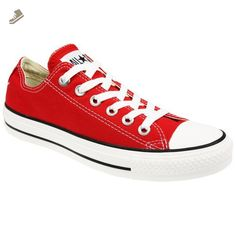 Converse Chuck Taylor All Star Lo Top Red Canvas Shoes with Extra Pair of Red Laces men's 11 - Converse chucks for women (*Amazon Partner-Link)