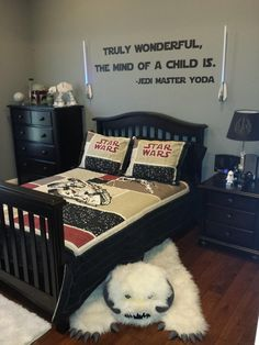 Parenting win: A couple creates a Star Wars room for their son