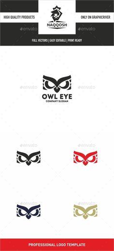 Owl Eye — Vector EPS #tech #creative