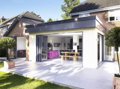 this extension is incongruous with this home and looks fantastic.