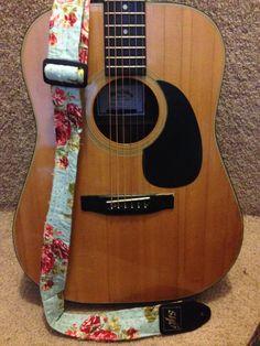 Adjustable Floral Guitar Strap
