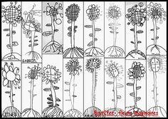 Graphomotricité fleurs Art For Kids, Crafts For Kids, Canson, Adult Coloring, Doodles, Lettering, Drawings, Spring, Blog