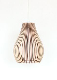 Wood Lamp / Wooden Lamp Shade / Hanging Lamp / Pendant Light / Decorative Ceiling Lamp / Modern Lamp - All For House İdeas Shabby Chic Lamp Shades, Rustic Lamp Shades, Modern Lamp Shades, Wooden Lampshade, Wood Lamps, Lampshades, Diy Luminaire, Ceiling Lamp, Ceiling Lights