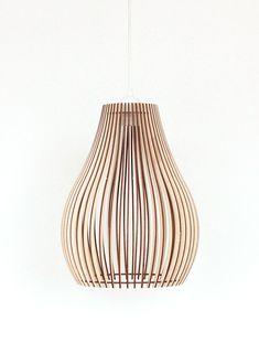 Abat-jour, 30cm Bois Lampe, Light, Abat bois est une création orginale de KWUD sur DaWanda