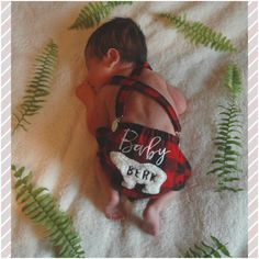 Buffalo Plaid Red and Black Lumberjack Diaper Cover for Baby Boys /Appliqué…