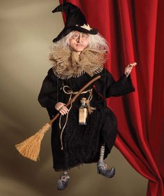 Bethany Lowe Old Witch Marionette