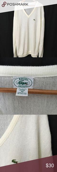 Vintage Izod Lacoste v neck sweater Vintage Izod Lacoste v neck sweater 100% acrylic size 3xl Lacoste Sweaters V-Neck