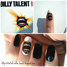 Billy Talent by TheNailGuru from Nail Art Gallery How To Do Nails, My Nails, Billy Talent, Tim Burton Style, Band Merch, Fabulous Nails, Nail Art Galleries, Nails Magazine, Cool Bands