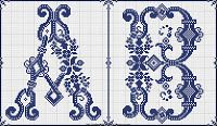 Sajou 602 cross stitch monograms
