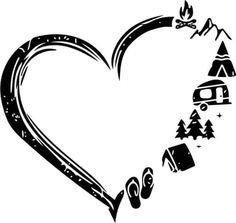Plotter Silhouette Cameo, Silhouette Cameo Projects, Silhouette Design, Silhouette Machine, Vinyle Cricut, Cricut Vinyl, Cricut Fonts, Camping Signs, Cricut Craft Room