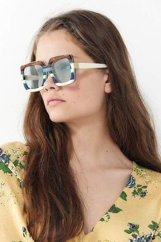 e133040aff Bonnie Clyde Mancuso Square Sunglasses. Big Round GlassesRectangle ...