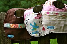 """boutique style baby bibs and other """"welcome baby"""" tutorials"""