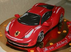 , Crazy Cakes, Fancy Cakes, Ferrari Cake, Cupcake Icing, Cupcakes, Cake For Husband, Teen Cakes, Cake Piping, Truck Cakes