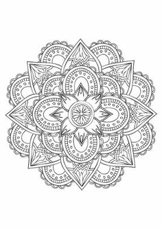 Coloring Page adult MANDALA zendala zentangle pattern