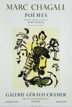 Plakate Marc Chagall Affiche Marc Chagall Poster Marc Chagall title Poems technology Color photo-lithography