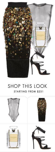 """Black Skirt"" by matousadiya ❤ liked on Polyvore featuring Murmur, Dolce&Gabbana, Chanel, Dsquared2 and dolceandgabbana"