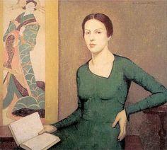 Melina de verde, 1930 Emma Fordyce MacRae (Áustria 1887- EUA, 1974) óleo sobre tela www.emmafordycemacrae.com